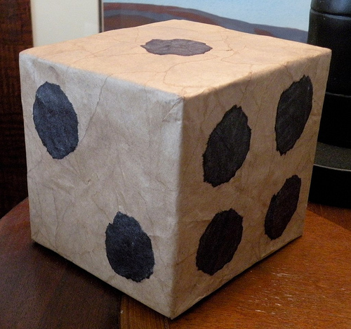 Rollin' the DICE || HUGE dice paper mache tutorial