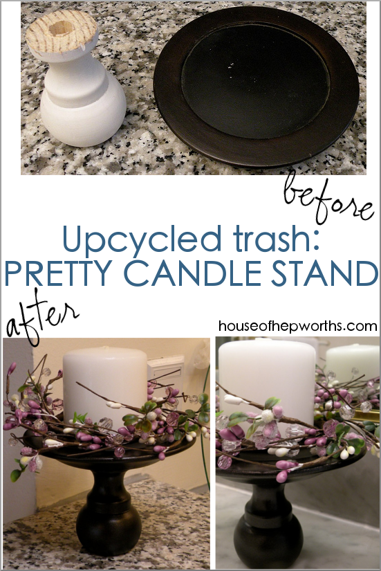 Trash Stand || candle stand from trash DIY