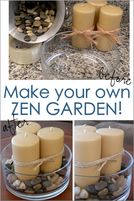 Create a soothing zen candle garden from thrift store items