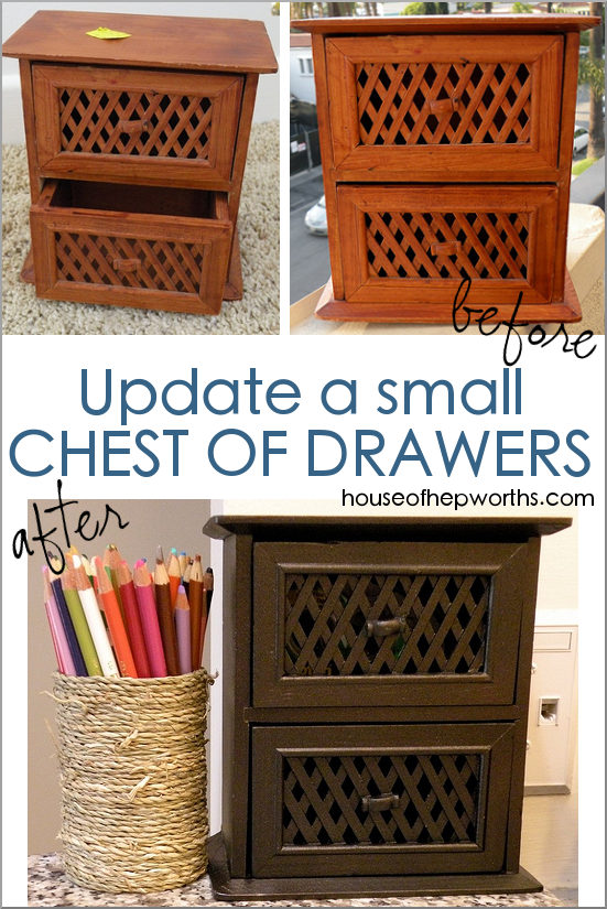Mini chest of drawers makeover with a huge impact!