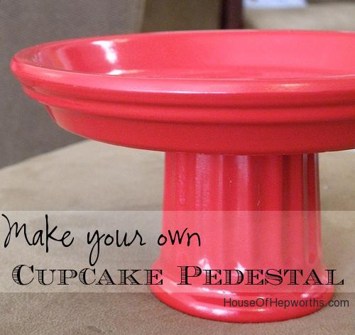 How to make a Cupcake Stand / Decor Pedestal