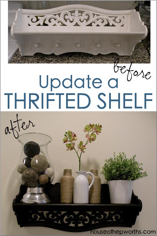 Update a thrifted shelf!