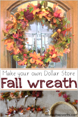Make your own Fall Wreath {Dollar Store Fall Decor}