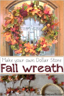 Make your own Fall Wreath {Dollar Store Fall Decor}