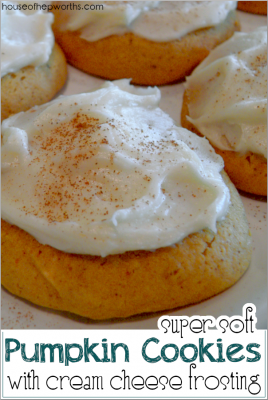 Super Soft Pumpkin Cookies with Cream Cheese Frosting