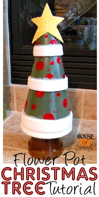 Christmas Tree from terra-cotta pots