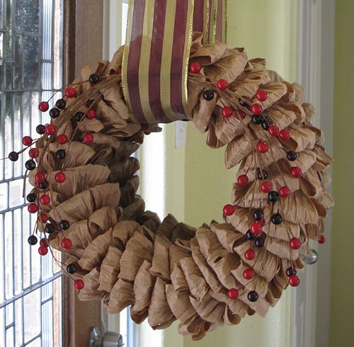 Fall wreath updated for Winter