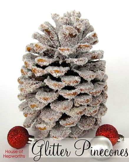 glitter pinecones – the worlds most inefficient tutorial