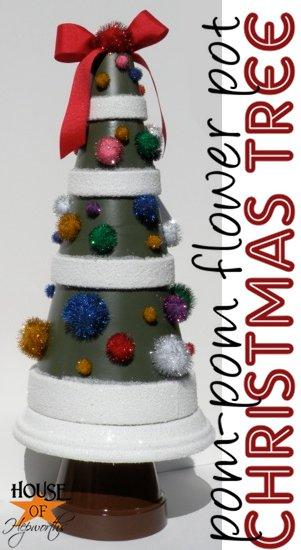 pom-pom terra cotta christmas trees