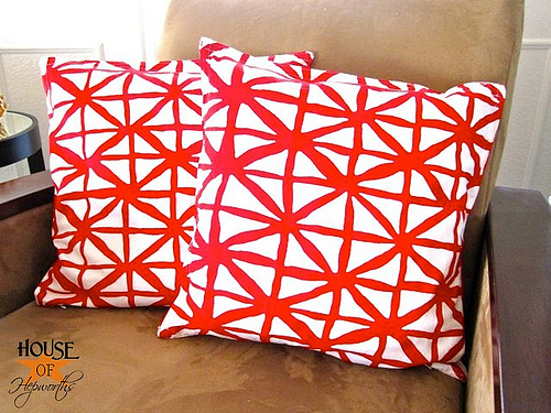 Please don't wipe your face on these. {Cloth napkin pillows}