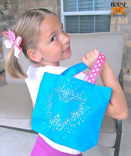 The cutest rhinestone butterfly bag you ever did see