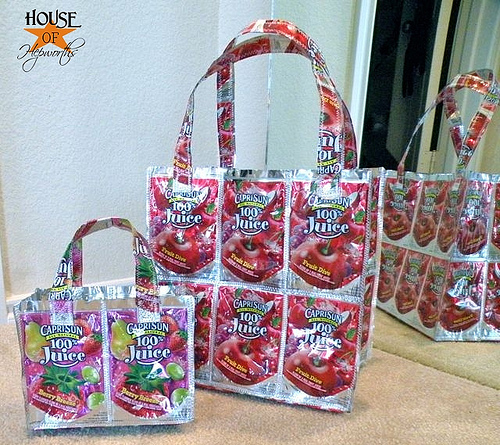 Caprisun bags & totes the hit of the school!