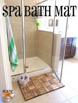 Create a Spa Bath Mat using IKEA outdoor decking