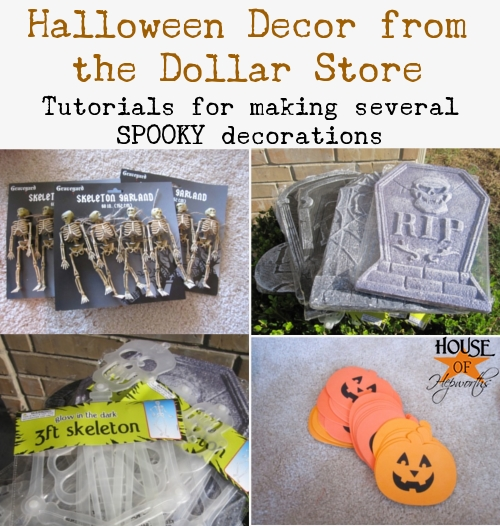 Make cheap Dollar Store Halloween Decor