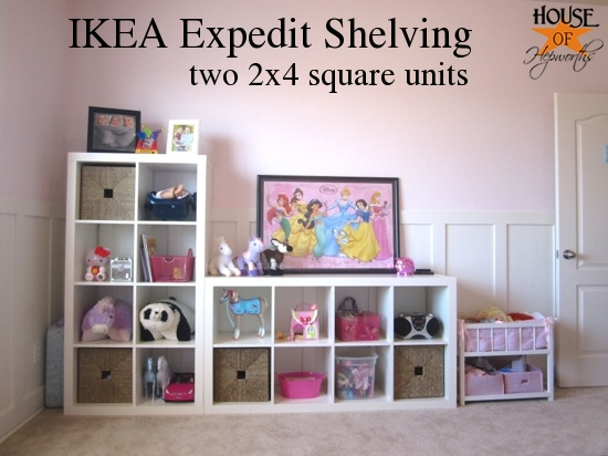 New Expedit shelving in K's room