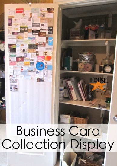 A weird collection and how I display it (blog business cards)