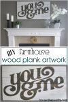 You & Me custom farmhouse artwork tutorial