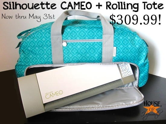 Rolling Tote for the Silhouette CAMEO! {awesome promotion}