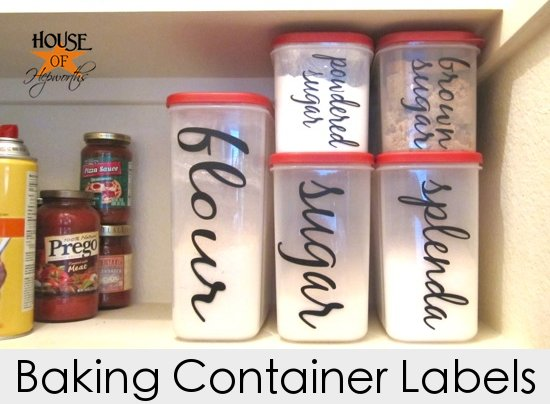 DIY vinyl Baking Labels for your pantry