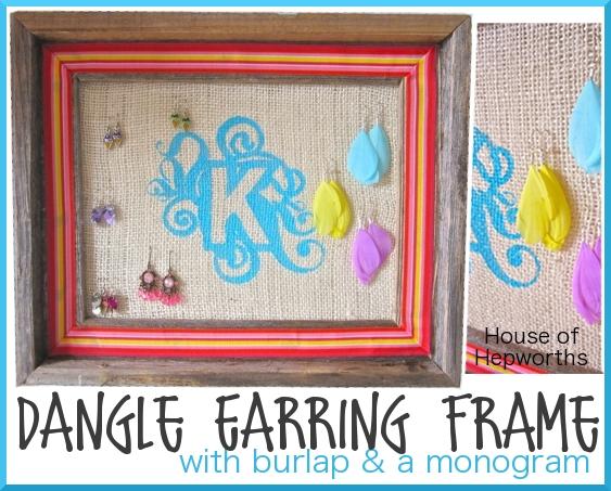 Dangle Earring Frame – A Blogging2Better Challenge