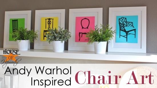 Andy Warhol inspired chair pop art