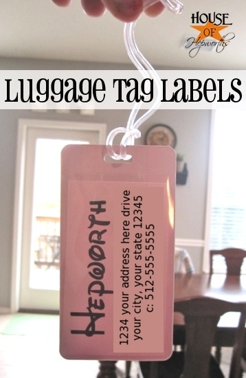 Custom Disney luggage tags (+ a Disney link party)
