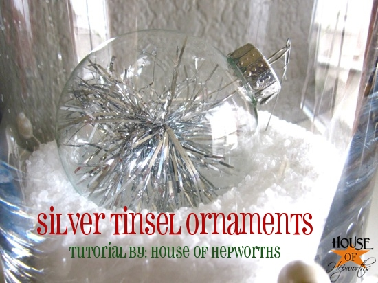 Sparkly Silver Tinsel Ornaments