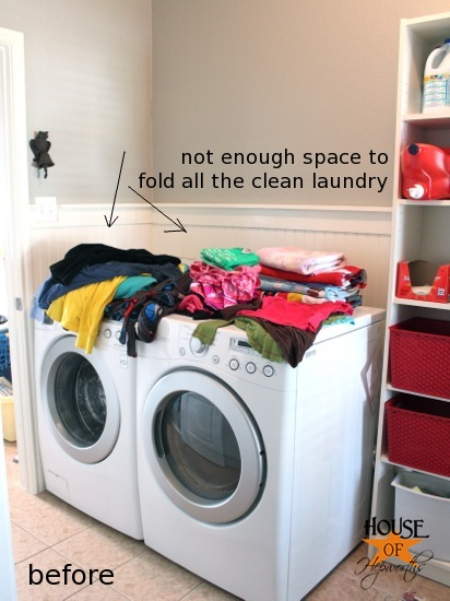 Adding More Functional Space In The Laundry Room Storage