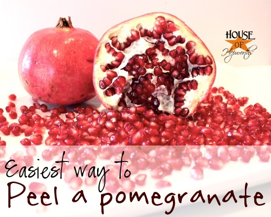 How to easily peel a pomegranate