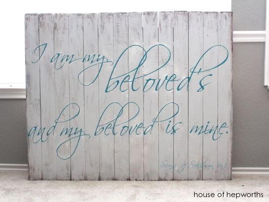 I Am My Beloved's custom artwork sign