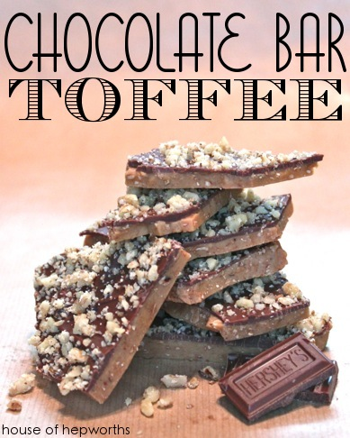 Chocolate Bar Toffee. Delicious easy to make treat for the Holiday season.