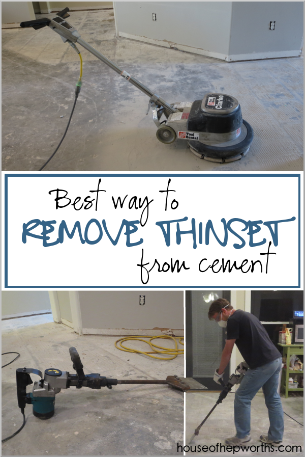 the best way to remove thinset from a cement foundation - house of ...