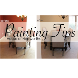 Painting the Dining Room + cutting in tips (video)