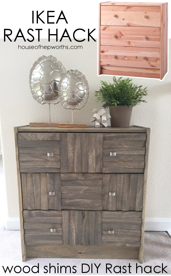 IKEA Rast hack using wood shims || AMAZING DRESSER