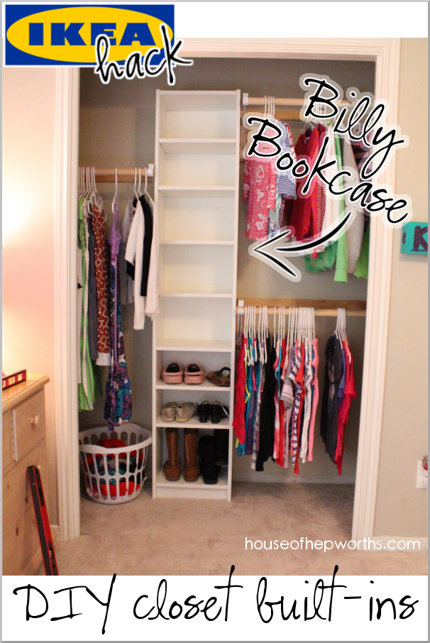 How to build your own closet built-ins using a Billy bookcase (IKEA hack)
