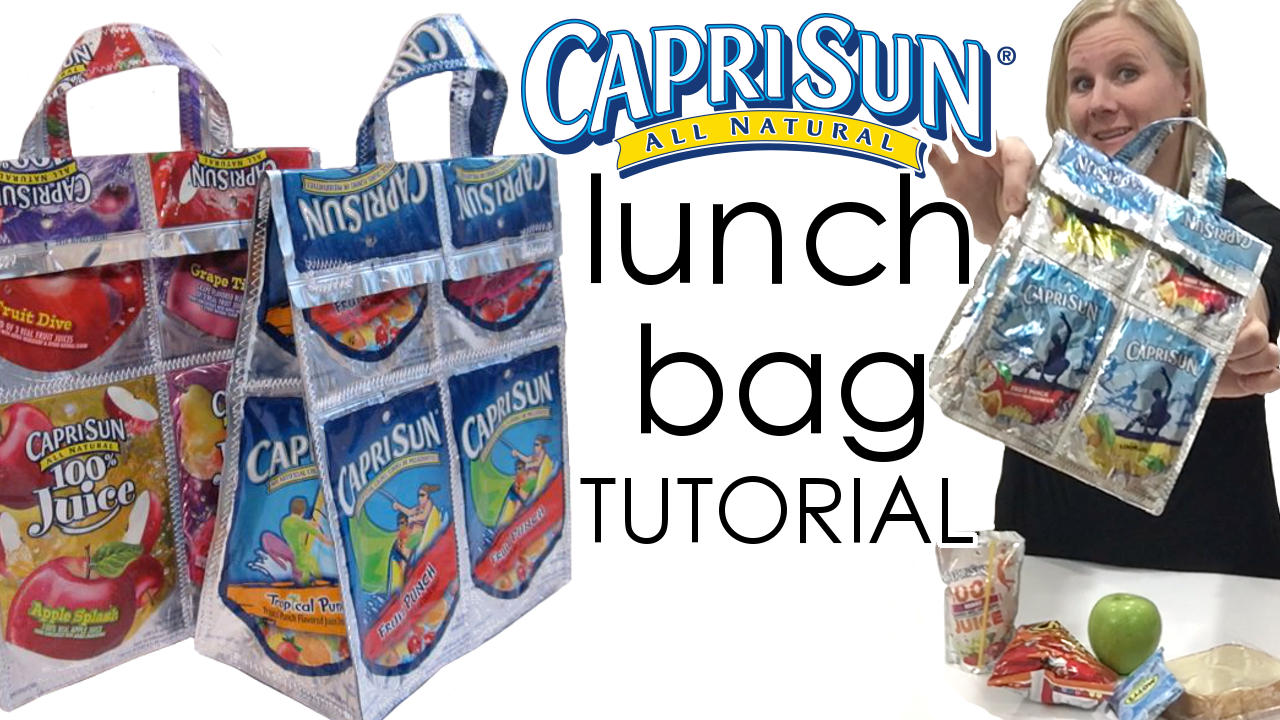 Capri Sun lunch bag tutorial!