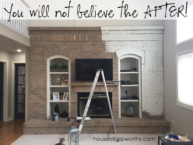 Stunning fireplace makeover with paint!