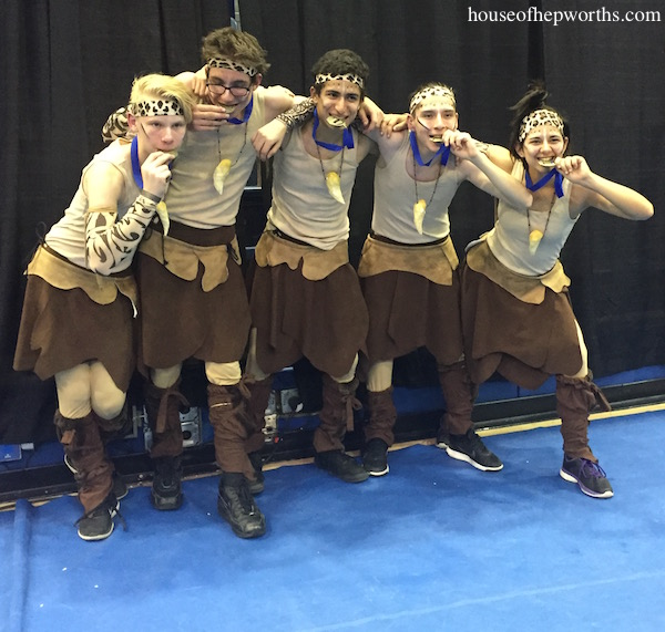 Creating the LOIN CLOTH SKIRTS & BELTS for Indoor Drumline show