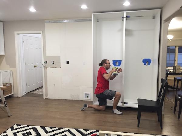 Adding plug outlets inside IKEA pantries || IKEA sektion renovation