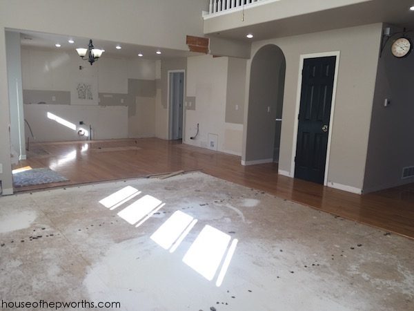 Final whole-house prep/demo for new floors