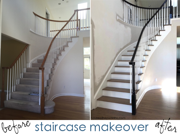 An amazing staircase makeover – from carpet to wood