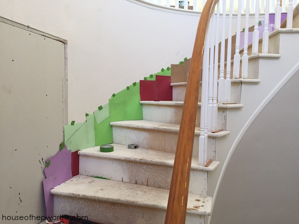 Creating your own skirting for a curved staircase