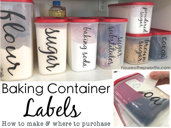 Custom Labels for your Baking Storage Containers
