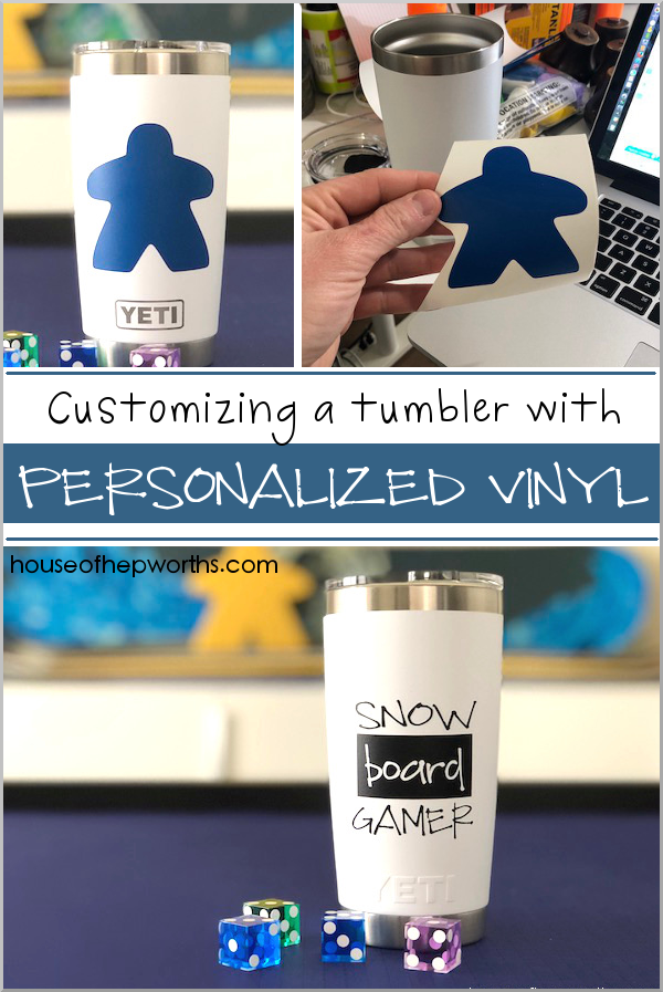 Personalizing a tumbler with custom vinyl