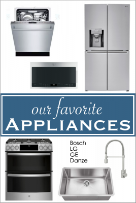 Our favorite appliances for our new kitchen (Bosch, LG, GE)