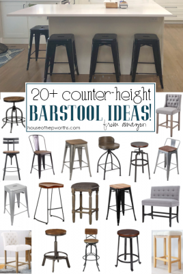 20+ amazing FARMHOUSE counter-height barstools