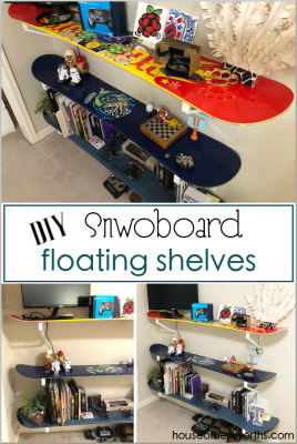 diy SNOWBOARD shelves: an easy tutorial