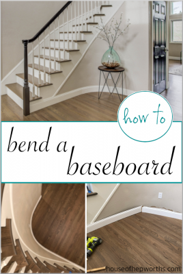 How to BEND A BASEBOARD around a tight curve